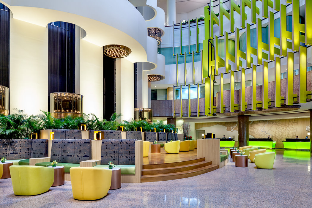 Architectural and Interior Photography Project for Holiday Inn Atrium in Singapore