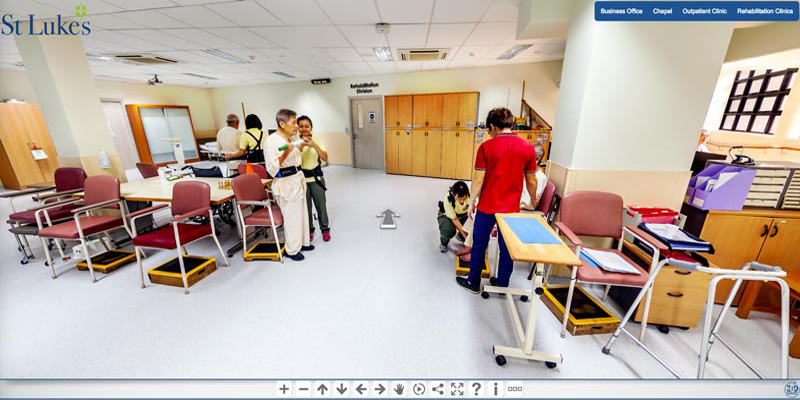 virtual tour for saint lukes hospital in singapore
