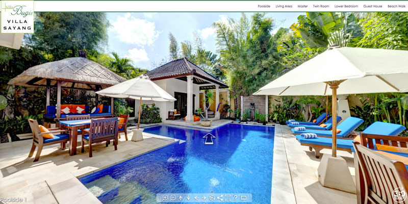 virtual tour for Villa Sayang in bali