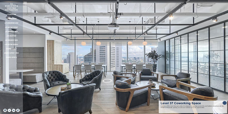 360 virtual tour of the executive centre serviced offices and coworking spaces at ocean financial centre in singapore