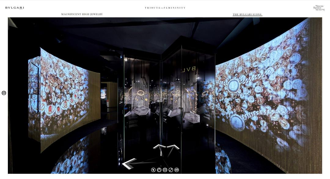 360 Virtual Tour of Bulgari Serpentiform Exhibition at the Kremlin in Moscow