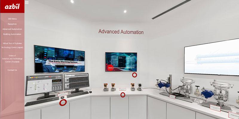 azbil singapore virtual showroom 360 virtual tour click here to enter
