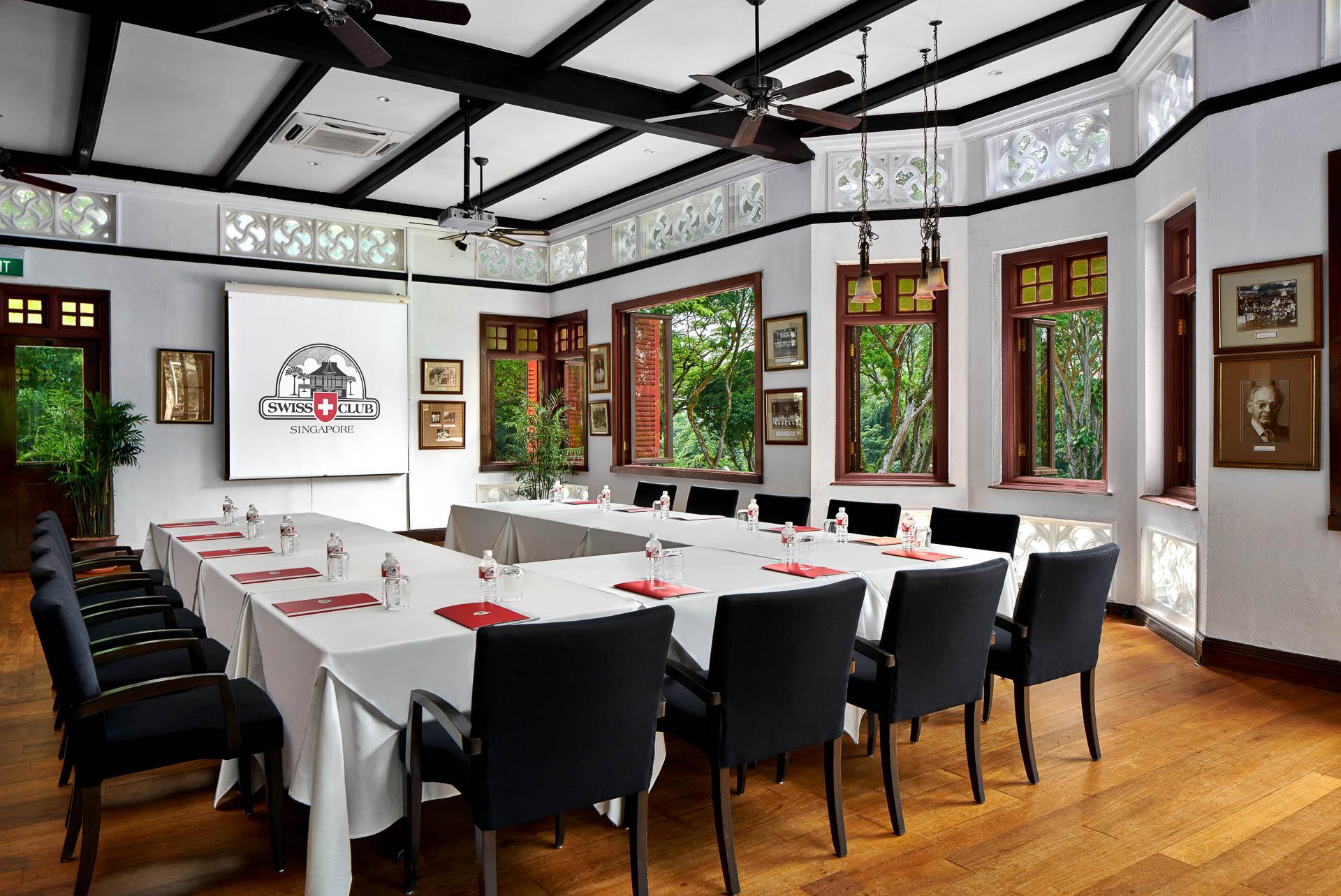 U Shape Meeting Room Setup at Swiss Club in Singapore