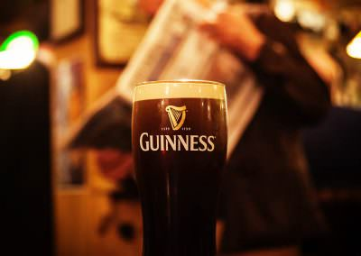 Guinness consumed at The Ferryman in Dublin, Ireland.