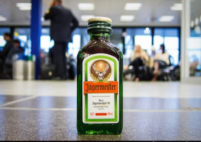 Little bottle of Jagermeister consumed in Berlin Schönefeld Air