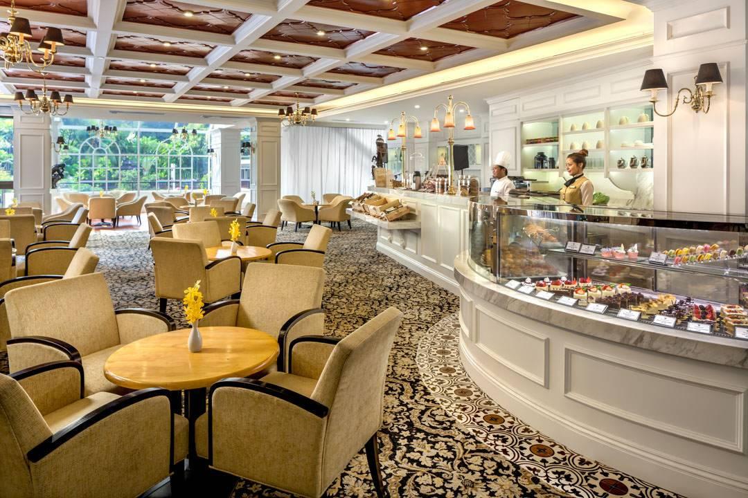 interior of tanglin club tea room restaurant in singapore